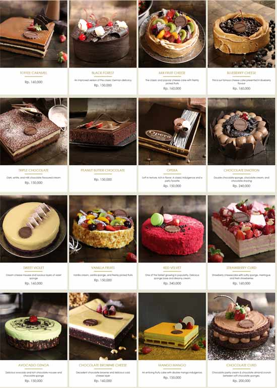 Harga Menu The Harvest Cake