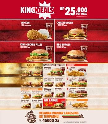 Harga Menu Burger King Terbaru