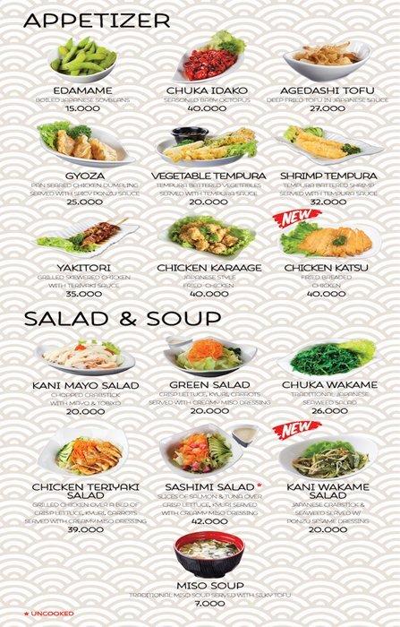 Daftar Menu Sushi-Ya - Appetizer