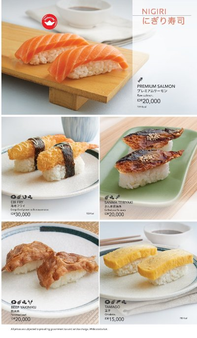 Menu Sushi King - Nigiri