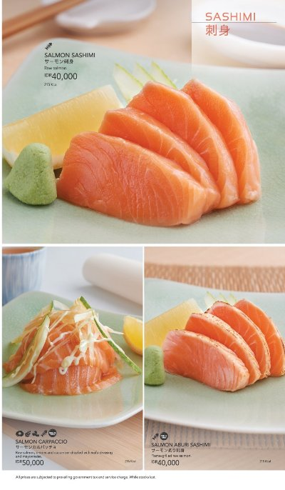 Menu Sushi King - Sashimi