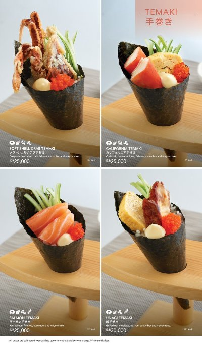 Menu Sushi King - Temaki