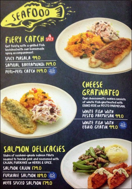 Menu Fish n Co Seafood