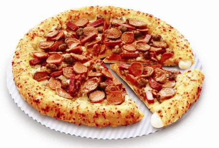 Topping Pizza Hut Meat Lovers