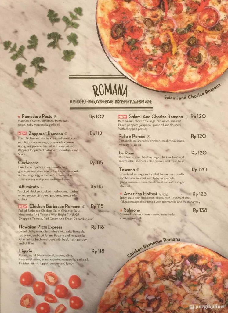 Harga Pizza Marzano - Romana