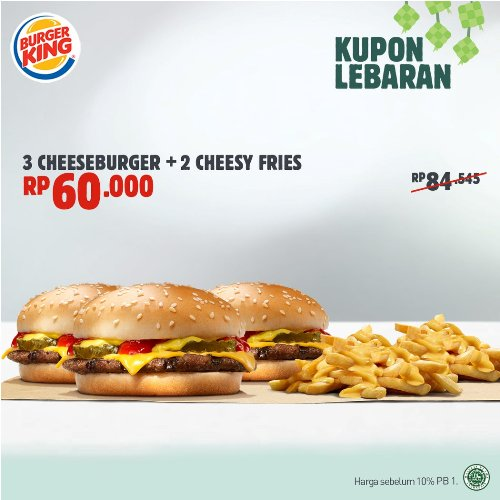 Menu Burger King Promo