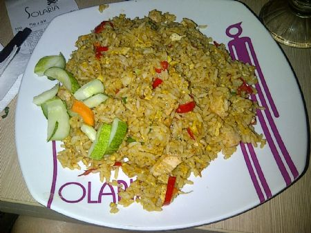 Nasi goreng smoked chicken