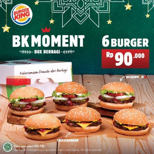 Promo Burger King Moment