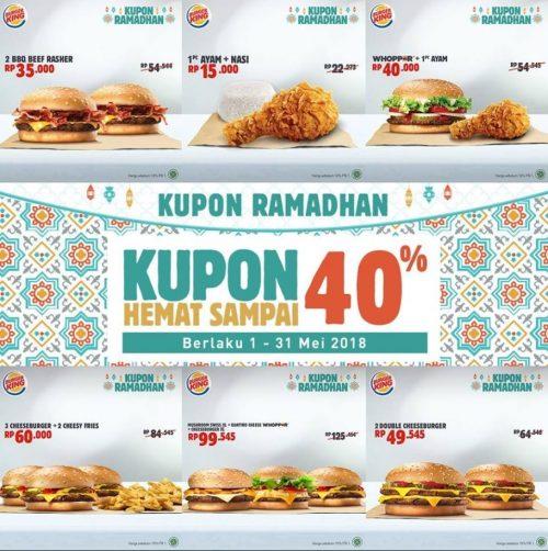 Promo Burger King Paket Hemat Ramadhan