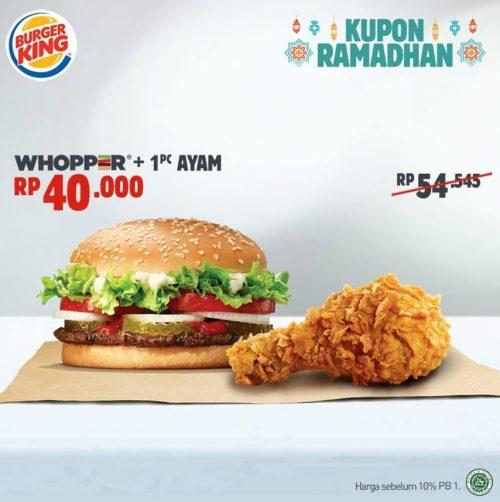 Promo Kupon Hemat Ramadhan Whopper Ayam