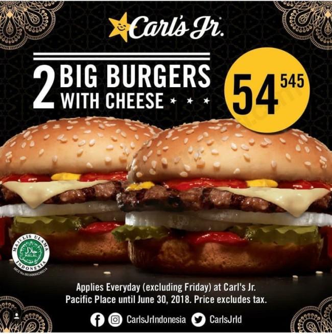 Promo Paket Double Carl's JR California Deals
