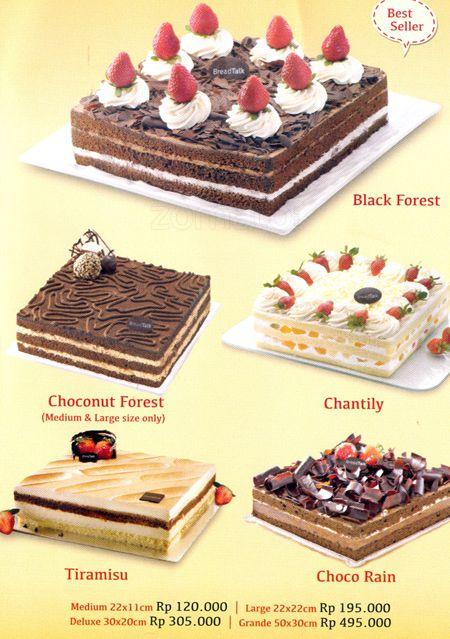 Harga kue ulang tahun di breadtalk
