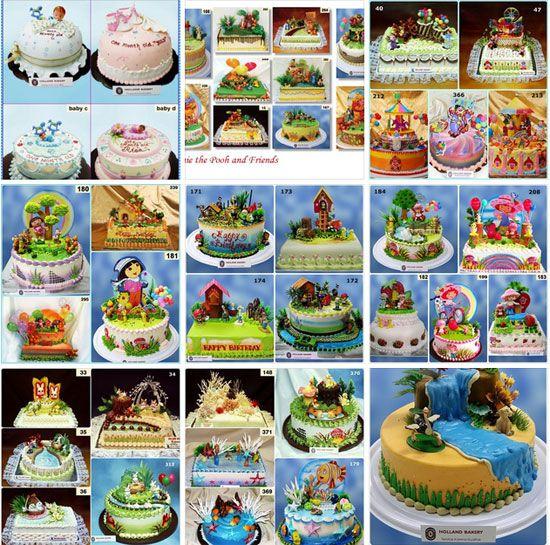Macam macam kue ulang tahun Holland Bakery