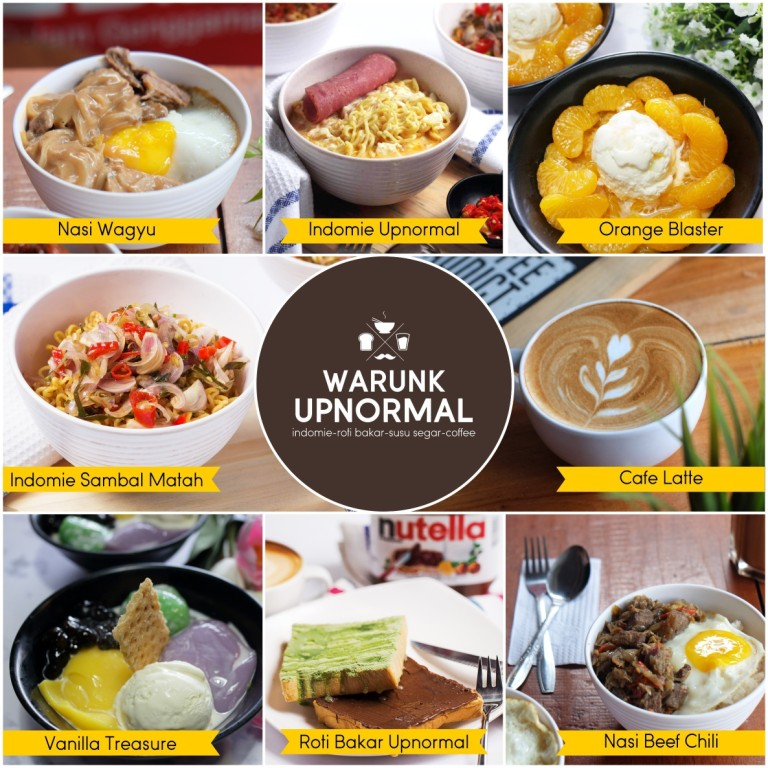 Harga Menu Warunk Upnormal Café Terbaru