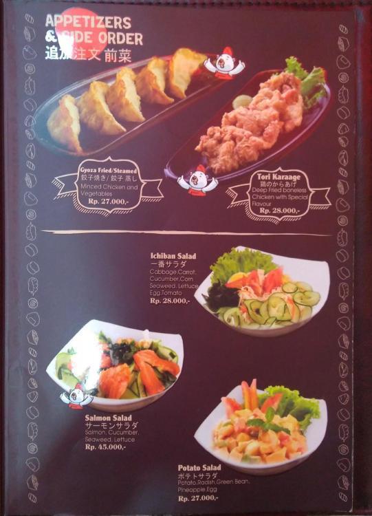 Menu Appetizer Ichiban Sushi