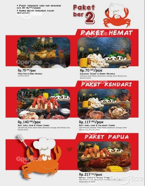 Paket Berdua Cut The Crab via Openrice