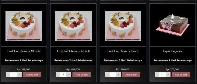Harga Menu Cake Eaton Bakery 2