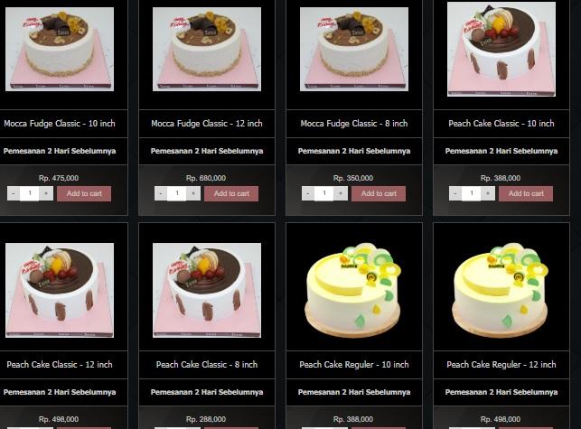Harga Menu Cake Eaton Bakery 3