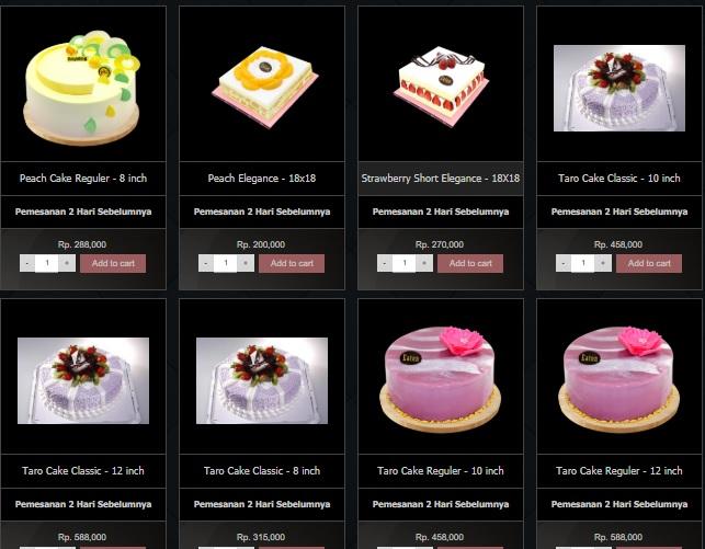 Harga Menu Cake Eaton Bakery 4