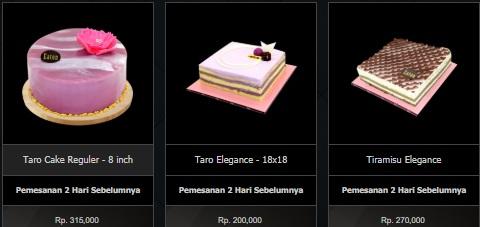 Harga Menu Cake Eaton Bakery 5