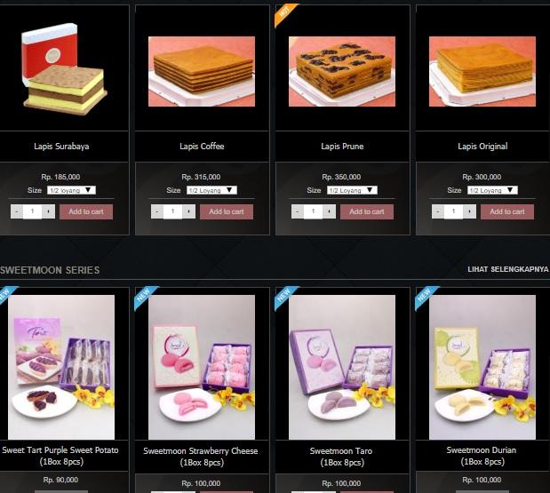 Harga Menu Lapis Eaton Bakery