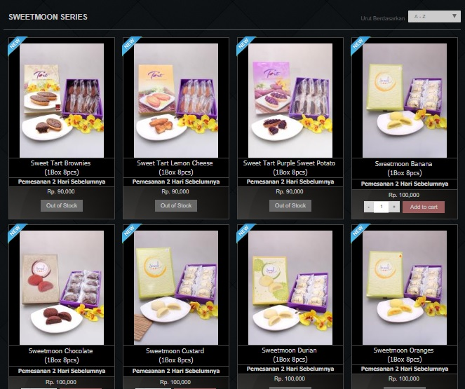 Harga Menu Sweetmoon Series Eaton Bakery