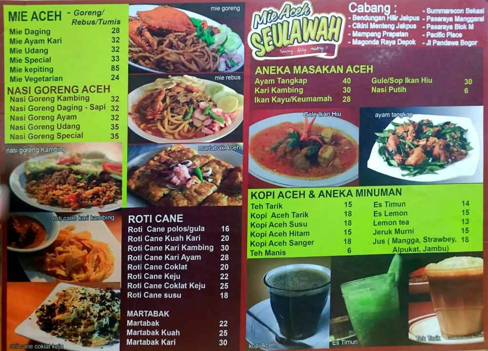 Harga Mie Aceh Seulawah