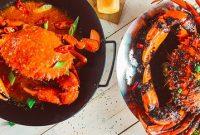 Kepiting lada hitam dan Telur asin